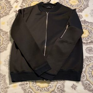 Boohoo black bomber jacket